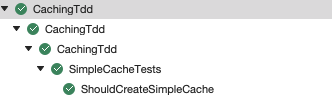 should create simple cache failing test