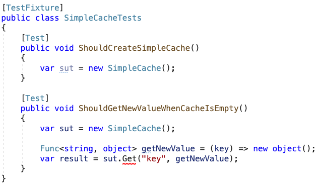 should get new value when cache is empty failling test